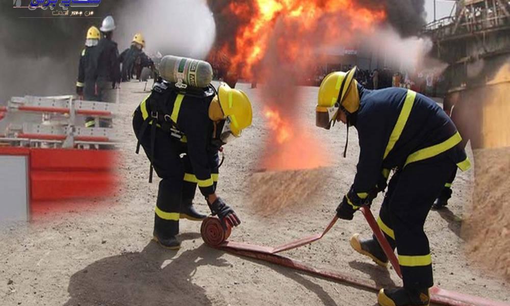حريق هائل يلتهم عددا من المحال التجارية في سوق الشورجة وسط بغداد