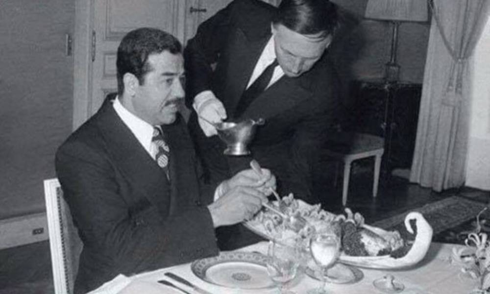Image result for بوتین صدام