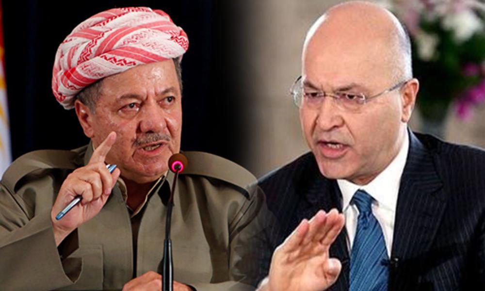 Iran and put you president of Iraq .. Barzani attacks Barham Saleh and his adviser