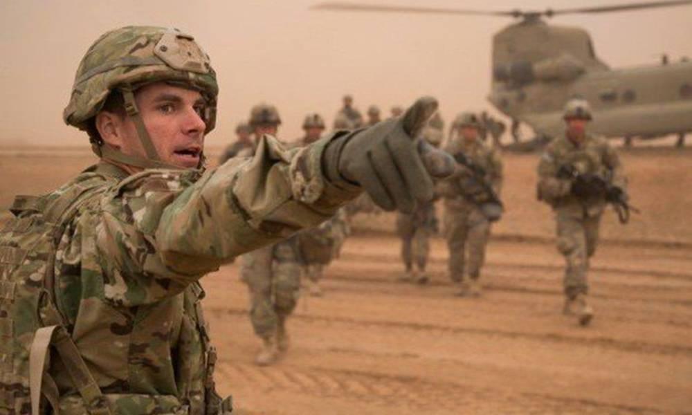 """""""قوات امريكية"""" مجهزة بانواع الاسلحة .. تستطلع """"الانبار"""" ..!"""