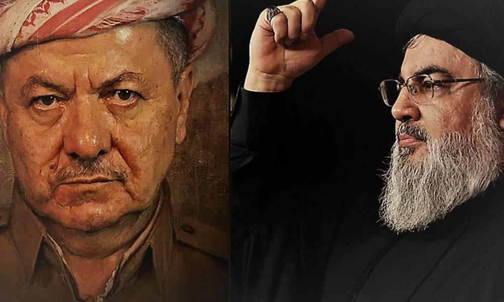 """عبارة ان """" يدا بارزاني ترتجفان""""  تثير الرأي العام في كردستان .. وبعد رد حكومتها يرد رئيسها بــ """" نصر الله اذى مشاعرنا """" !!"""