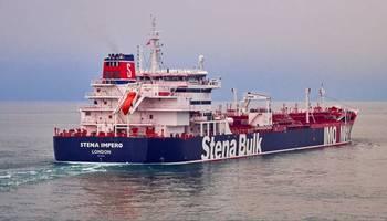 فيديو يظهر ناقلة النفط البريطانية المحتجزة في ميناء بندر عباس ويرفرف فوقها العلم الإيراني