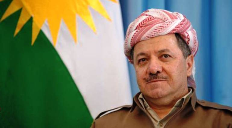 Barzani talks about the new flag and anthem of Kurdistan represent the components of the region