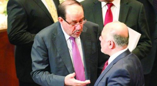 Maliki threatens Abadi using influence the army and the crowd to stop the farce demonstrations