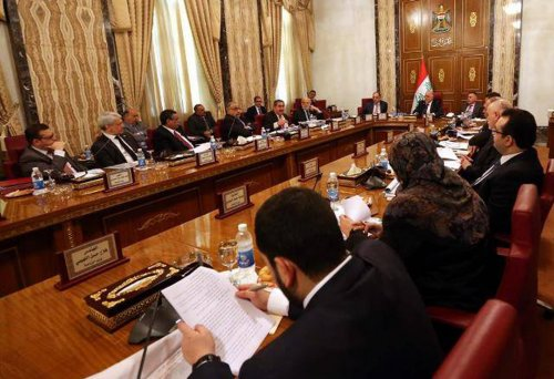 A government statement - all ministers are ready to leave their posts and stand with Abadi on reform