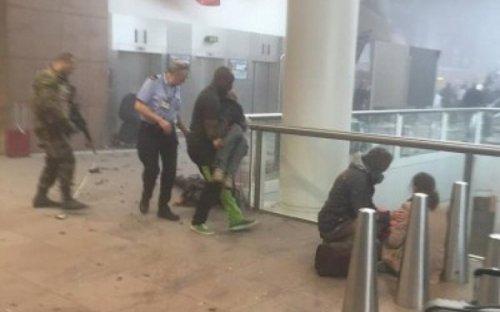 شاهد بالصور.. اثار تفجيرات مطار بروكسل