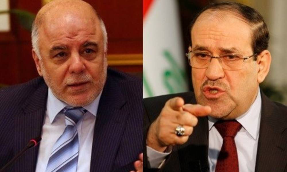 Malikis coalition opens fire .. Abadi sought to resolve the popular crowd in favor of America ..