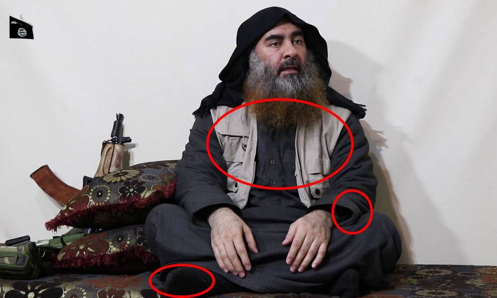 Signs appeared in the video Baghdadi may determine his whereabouts .. Know them