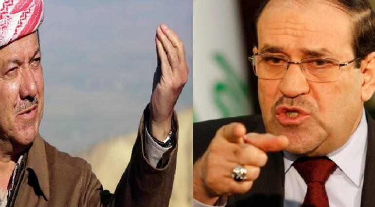 After Abadi - Maliki threatens Barzanis delegation to military intervention