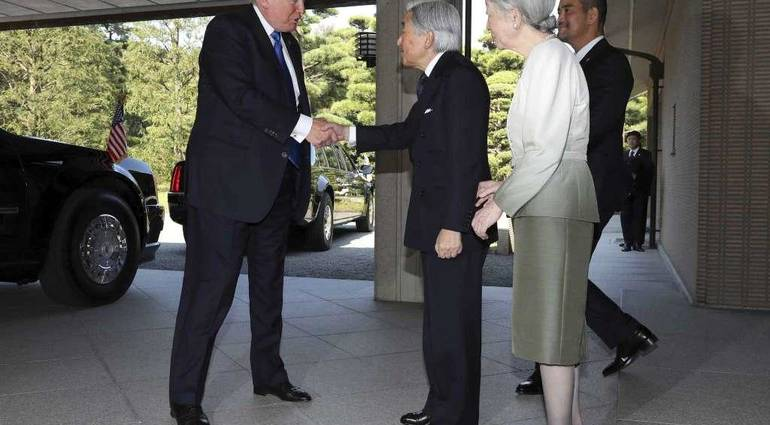 Unlike Obama - Trump succeeds in testing the ceremony in Japan