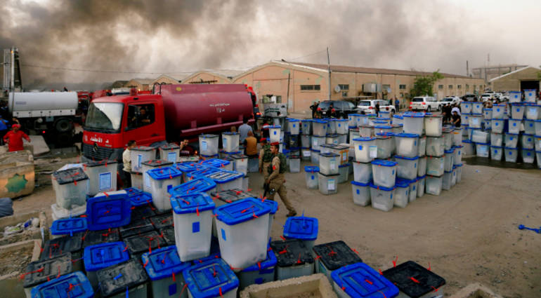 The impossibility of the manual sorting process after the fire incident