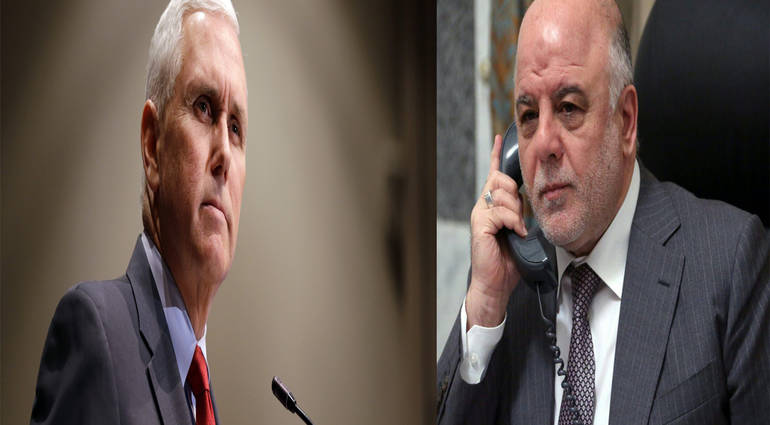 The details of the telephone call between Abadi and Mike Pence US Vice President